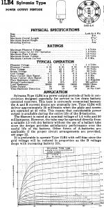 1LB4, Tube 1LB4; Röhre 1LB4 ID2811, Vacuum Pentode