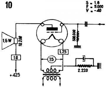 10, Tube 10; Röhre 10 ID3936, Triode, vacuum