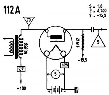 112A, Tube 112A; Röhre 112A ID3747, Triode, vacuum