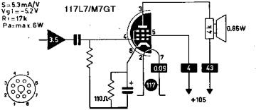 117L7/M7GT, Tube 117L7/M7GT; Röhre 117L7/M7GT ID5806, HalfWa