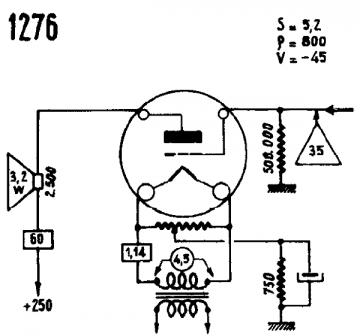 1276, Tube 1276; Röhre 1276 ID15435, Triode, vacuum
