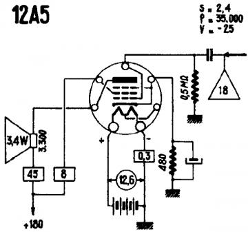 12A5, Tube 12A5; Röhre 12A5 ID3652, Vacuum Pentode