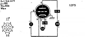 12F5GT, Tube 12F5GT; Röhre 12F5GT ID3838, Triode, vacuum