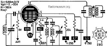 14B8, Tube 14B8; Röhre 14B8 ID5474, Pentagrid-Converter (Hep