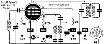 1LA6, Tube 1LA6; Röhre 1LA6 ID2810, Pentagrid-Converter (Hep