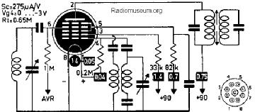 1LC6, Tube 1LC6; Röhre 1LC6 ID2620, Pentagrid-Converter (Hep
