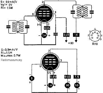 1U4, Tube 1U4; Röhre 1U4 ID2627, Vacuum Pentode