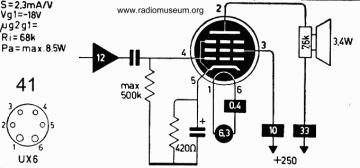 41, Tube 41; Röhre 41 ID2968, Vacuum Pentode