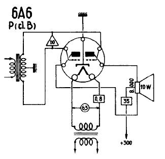 6A6, Tube 6A6; Röhre 6A6 ID3249, Double Triode