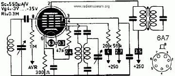 6A7, Tube 6A7; Röhre 6A7 ID2687, Pentagrid-Converter (Heptod