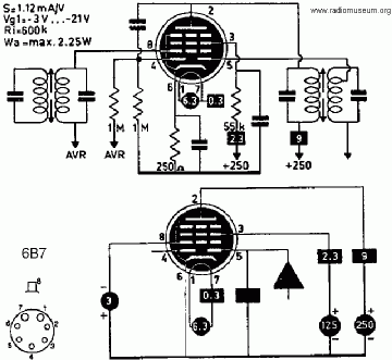 6B7, Tube 6B7; Röhre 6B7 ID2840, Double Diode-Pentode