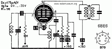 6BE6, Tube 6BE6; Röhre 6BE6 ID1424, Pentagrid-Converter (Hep