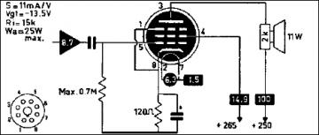 6CA7, Tube 6CA7; Röhre 6CA7 ID4708, Beam Power Tube
