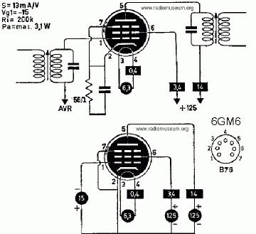 6GM6, Tube 6GM6; Röhre 6GM6 ID4884, Vacuum Pentode