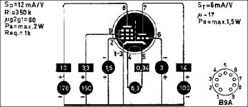 6HG8, Tube 6HG8; Röhre 6HG8 ID4916, Triode-Pentode