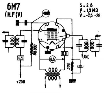 6M7, Tube 6M7; Röhre 6M7 ID1991, Vacuum Pentode