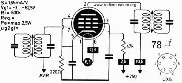 78, Tube 78; Röhre 78 ID2734, Vacuum Pentode