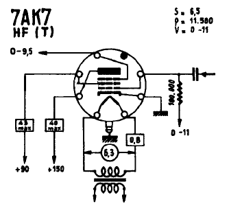 7AK7, Tube 7AK7; Röhre 7AK7 ID5126, Vacuum Pentode