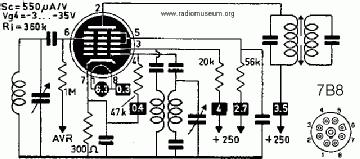 7B8, Tube 7B8; Röhre 7B8 ID3732, Pentagrid-Converter (Heptod