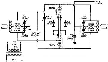 805, Tube 805; Röhre 805 ID20387, Transmitting Triode, air c