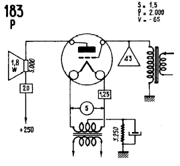 183, Tube 183; Röhre 183 ID19264, Triode, vacuum
