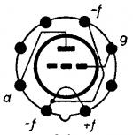 1LE3, Tube 1LE3; Röhre 1LE3 ID3593, Triode, vacuum
