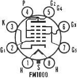 FM 1000, Tube FM1000; Röhre FM 1000 ID3923, HEPTODE