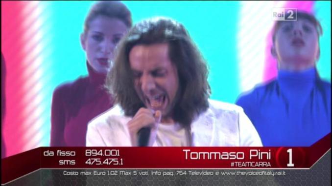 The Voice of Italy Live: Tommaso Pini canta Centro di