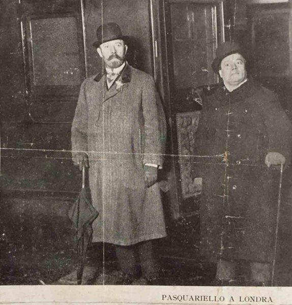 Gennaro Pasquariello a Londra nel dicembre 1911