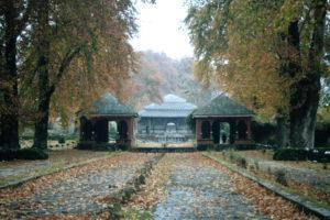 Deserted garden in Srinagar