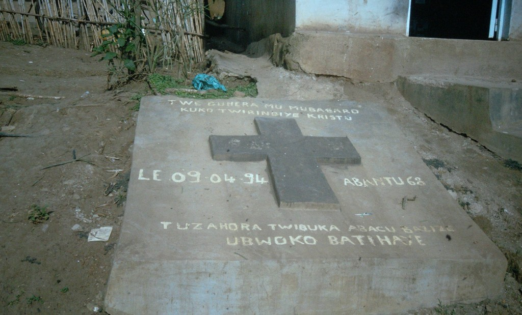 Tombstone of a genocide victim