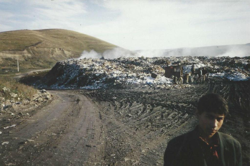 Teenage Roma at the Cluj municipal dump