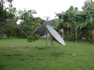 EduTV's satellite dishes