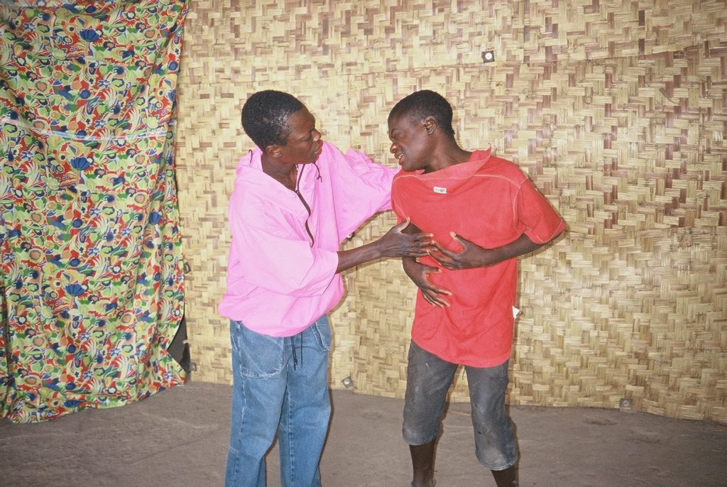 Okutiuka children acting in a play about children's rights