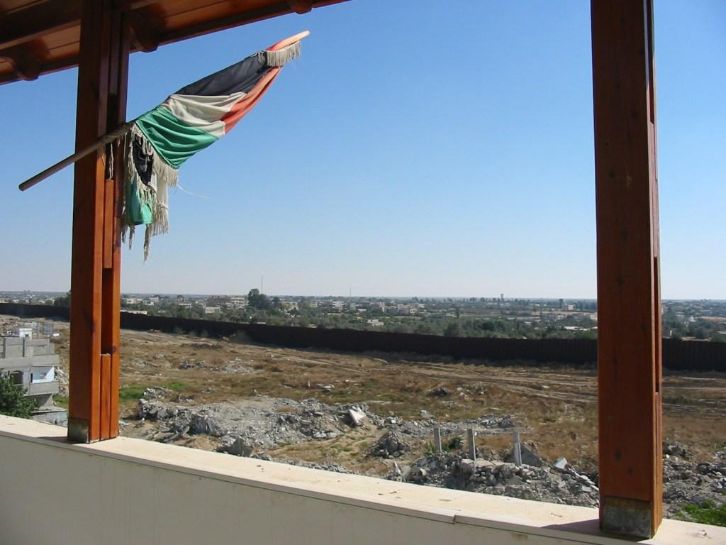 Barrier enclosing the Gaza Strip
