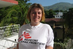 Petra Reijners, head of the Dutch-branch of MSF in Haiti