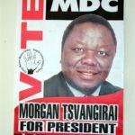 Poster for MDC leader Morgan Tsvangirai