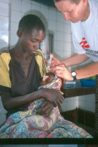 Feeding centre run by Doctors without Borders