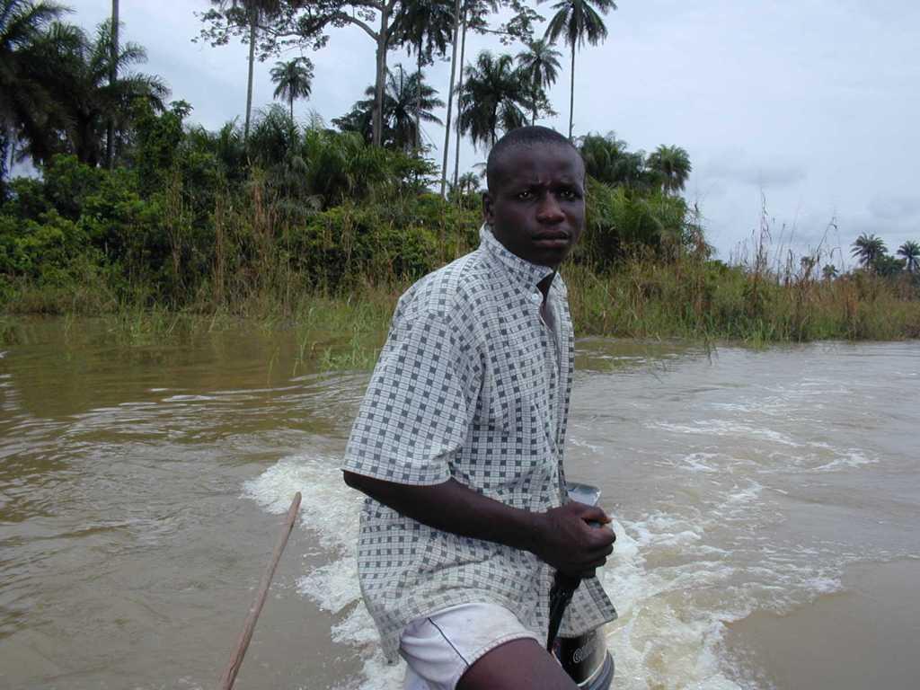 Fisherman in Ekoli Creek