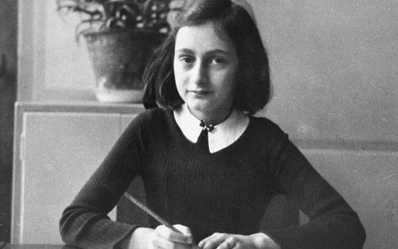 Anne Frank at school at the age of 12