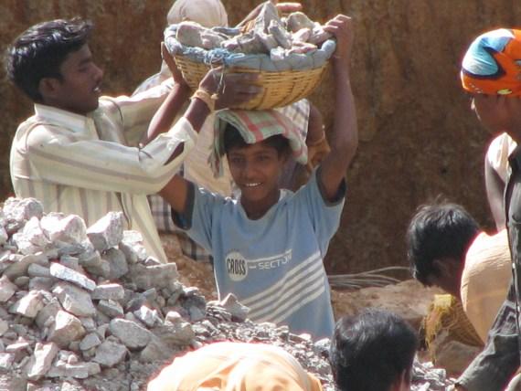 Child labour in Bangalore, India