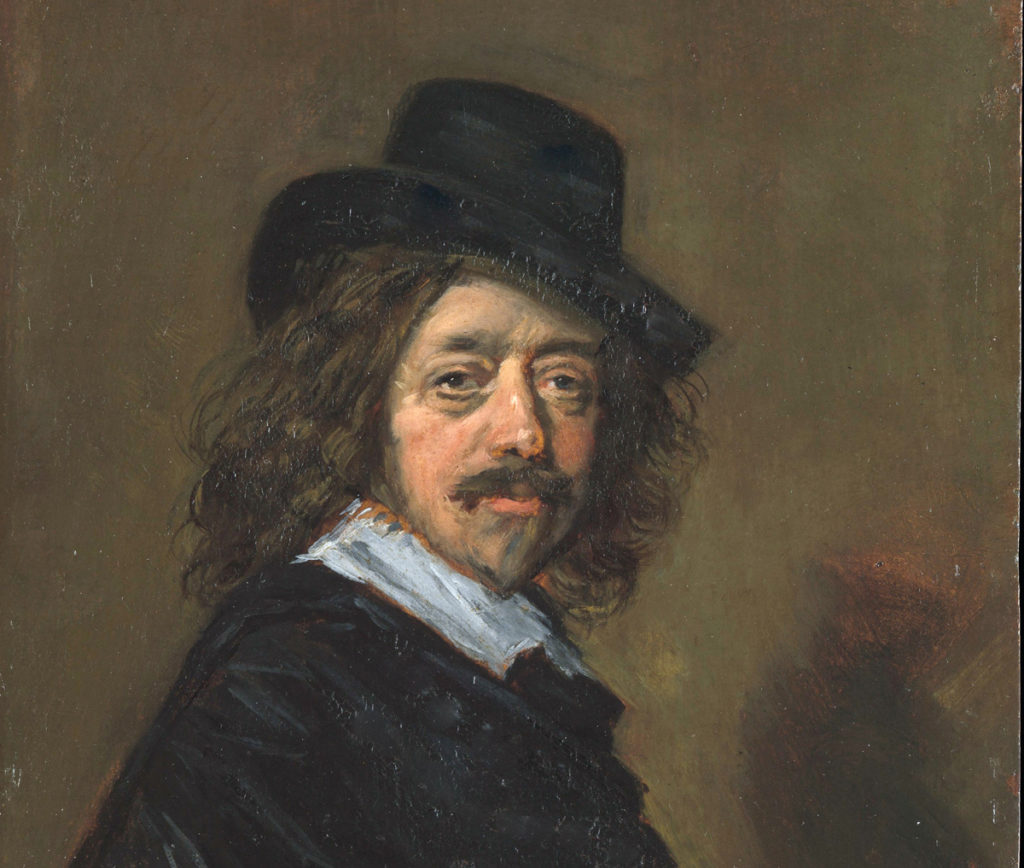 Copy of a self-portrait by Frans Hals, painted in the 1650's