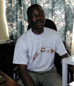 Davidson Jonah, the director of the Christian Children's Fund in Sierra Leone