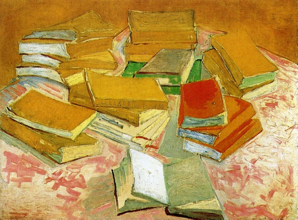 Vincent van Gogh: Painting of French Novels, 1887 (Van Gogh Museum, Amsterdam)