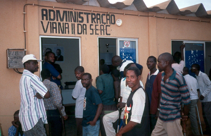 War veterans in Viana, a neighbourhood 30 kilometres from Luanda