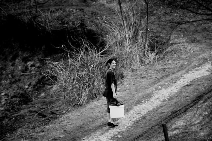 Woman in a refugee camp in Tuzla, Bosnia