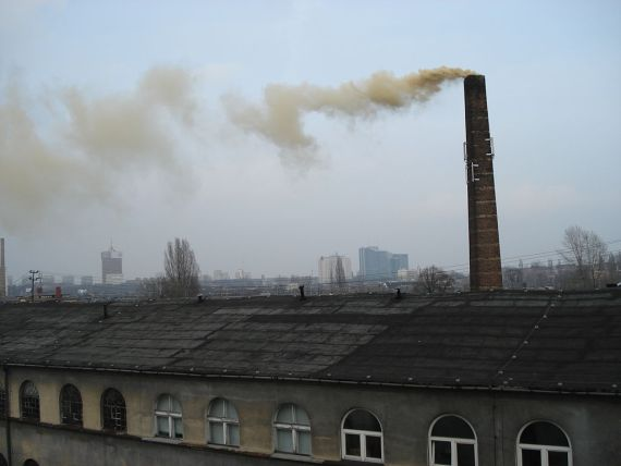Polluting factory in Poland