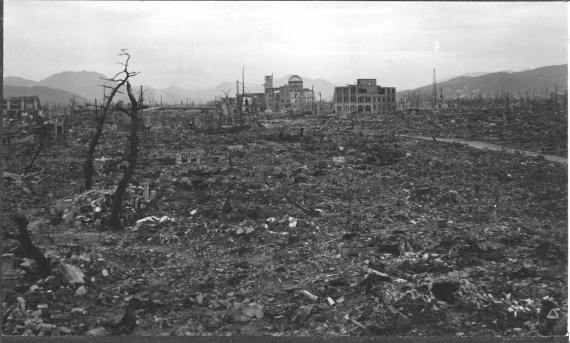 Hiroshima after the atomic bomb in 1945