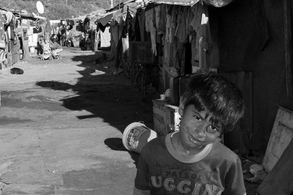 Refugee camp in Podgorica, Montenegro