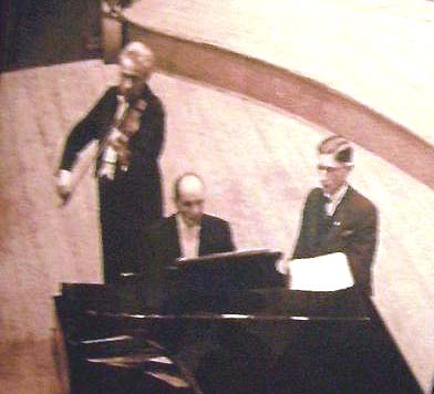 Robert Brouwer (right) on stage with the maestros